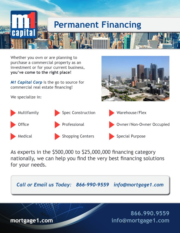 Permanent Financing Flyer