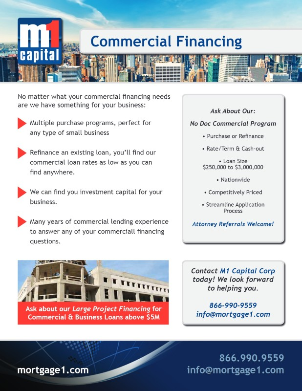 commercial financing flyer